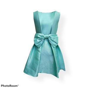 Kate Spade open back silk mini dress with bow